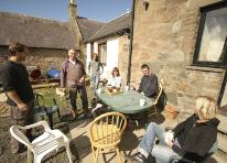 Relaxed lunch in sunny ayrshire at the A4A art for  architecture and John McKenna sculpture studio